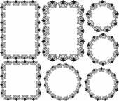 Blumenfelder — Stockvektor