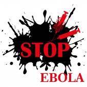 Ebola virus stop — Stock Vector