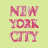 New york flag typography, t-shirt graphics, vectors — Stock Vector