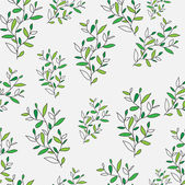 Stylish beautiful bright floral seamless pattern. Abstract Elegance vector illustration texture of green leaves and twigs — Stock Vector