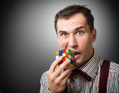 Puzzled man, concept — Stock Photo