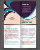 Bifold brochure print template design — Stock Vector