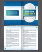Bifold brochure  template design — Stock Vector