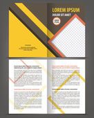 Bi-fold brochure template design — Stock Vector
