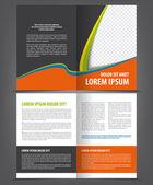 Bi-fold Brochure Print Template Design — Vetor de Stock