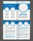 Bi-fold Brochure Print Template Design — Stock Vector