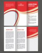 Trifold brochure design print template — Stock Vector
