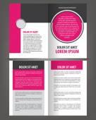 Empty bi-fold brochure — Stock Vector