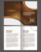 Printempty bi-fold brochure — Stock Vector