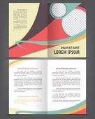 Vector empty bifold brochure — Stock Vector