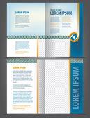 Bi-fold brochure — Stock Vector