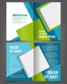 Empty bi-fold brochure design — Stock Vector