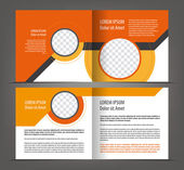Empty two-faced brochure — Stock Vector