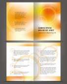 Empty bifold brochure — Stock Vector