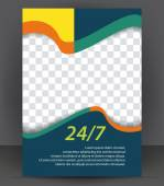Журнал, летчик, брошюра и расположение покрытия — Cтоковый вектор