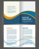 Empty bi-fold brochure print template — Stock Vector