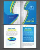 Empty bifold brochure print template — Stock Vector