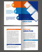 Empty bifold brochure template — Stock Vector