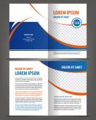 Empty bifold brochure print design — Stock Vector