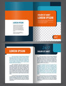 Empty bi-fold brochure print — Stock Vector