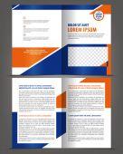 Empty bifold brochure design — Stock Vector