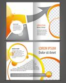 Empty bifold brochures  templates — Stock Vector