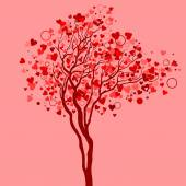 Love tree with heart leaves — Stock Vector