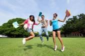 Happy College students — Stock Photo