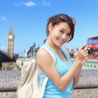 Woman traveler take photo — Stock Photo #55634927