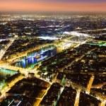 Aerial Night view of Paris — Stock Photo #58943899