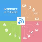 Internet of things concept — Stock Vector