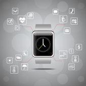 Smart watch wearable device — Stock Vector