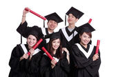 Graduate students posing — Stock Photo
