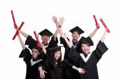 Graduate students posing — Stock Photo