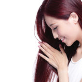 Beauty woman hair care concept — Stock Photo
