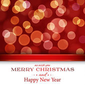 Merry Christmas card with bokeh — Stock Vector