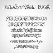 手写的字体 — 图库矢量图片
