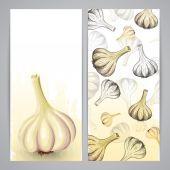 Modelli di Flayer con aglio — Vettoriale Stock