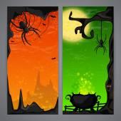 Flayer de Halloween mágico — Vector de stock