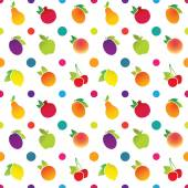 Fruit icons pattern — Stock Vector