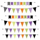 Halloween banner, bunting or flags — Stock Vector
