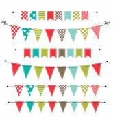 Christmas banner, bunting or flags — Stock Vector
