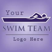 Swim team logo template — Stock Vector
