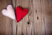 Hausgemachte Filz Herzen — Stockfoto