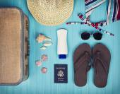 A collection of travel items — Stock Photo