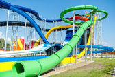 Modern water park, aquapark with extreme slides — Stock Photo