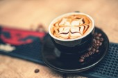 Coffee cup at restaurant or pub, espresso close-up. Soft effect. — Stockfoto