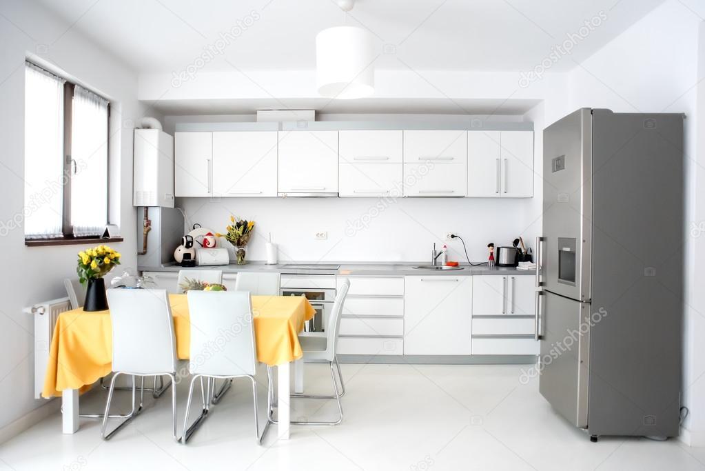Diseño de interiores, cocina moderna y minimalista, con ...