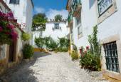 Ruelle à Obidos Portugal — Stock Photo