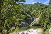 Pont du diable thueyts France — ストック写真